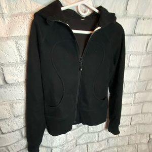 Lululemon black Scuba hooded jacket. Size 8